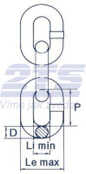 Řetěz metrážní, průměr 18 mm, třída 10 - 2
