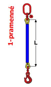 Oko-hák textilní RS, nosnost 1t, délka 1m, GAPA - 2