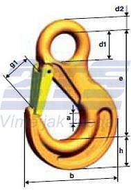 Hák s okem HSW průměr 22 mm, třída 10 - 2