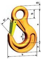 Hák s okem HSW průměr 22 mm, třída 10 - 2/2