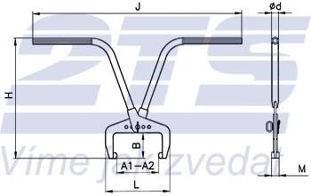 Svěrací kleště na obrubníky stavitelné SKORS 120kg - 2