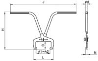Svěrací kleště na obrubníky stavitelné SKORS 120kg - 2/2