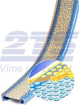 Polyuretanová ochrana jednostranná s broušeným povrchem a kovovou výztuhou SF1 šíře 100mm - 2