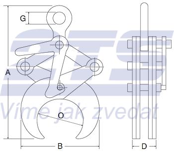 Svěrací kleště CRK 2t, 219-368 mm - 2