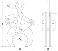 Svěrací kleště CRK 2t, 219-368 mm - 2/2