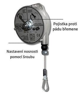 Balancér 9337 (Tecna), nosnost: 4-6 kg, 2500 mm - 2