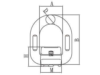 Navařovací sklopný bod SAP 15 t GAPA344, třída 8 - 2