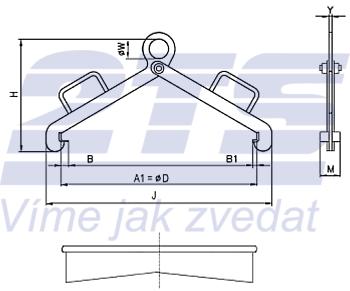 Nosič sudů vertikální NSV, nosnost 500kg, pr.600mm - 2