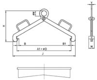 Nosič sudů vertikální NSV, nosnost 500kg, pr.600mm - 2/2