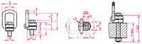Šroubovací otočný a sklopný bod RUD VLBG M42x73, nosnost 10 t - 2/3