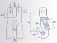 Zkracovací hák s vidlicí a pojistkou VKP průměr 13 mm, třída 8 - 2