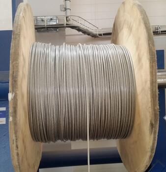 Ocelové lano průměr 6/8 mm, 6x7 FC B 1770 sZ + PVC transparentní  - 2