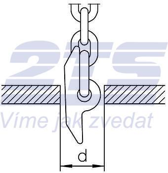 Kolík na vytahování kanálových skruží průměr 8 mm, třída 10 - 2