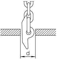Kolík na vytahování kanálových skruží průměr 8 mm, třída 10 - 2/3