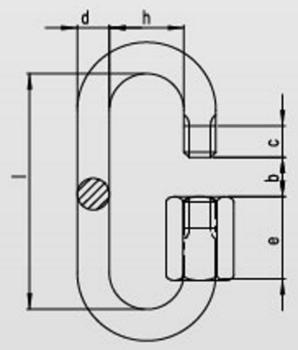Řetězová rychlospojka prodloužená DIN 56927 Zn, průměr 5 mm - 2