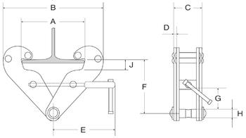 Šroubovací závěsná svěrka KSB 2t, 75-220mm - 2