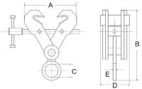 Šroubovací závěsná svěrka CSV 5t, 150-300mm - 2/3