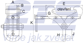 Svěrka Superclamp S14 15t, 406-610mm - 2