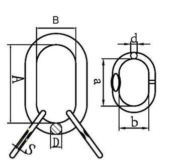 Závěsné oko lanové 28B, nosnost 12,7 t GAPA96 - 2