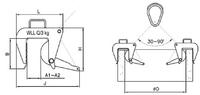 Nosič skruží vačkový NSV-r s řetězem 3t, 50-180 mm - 2/2