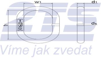 Závěsné oko AE22-13-10 GAPA 33, třída 8 - 2