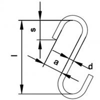 S-hák otevřený krátký 2 500 kg, třída 8 - 2/2