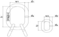 Závěsné oko AKE22 GAPA012, třída 10 - 2/2