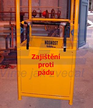 Závěsná revizní klec ZKR1 301/0,9m nosnost 300kg - 2