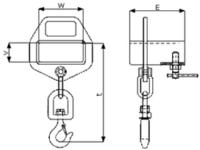Závěs na vidlici VZV jednoduchý s otočným hákem ZV1 OH 1000kg - 2/2