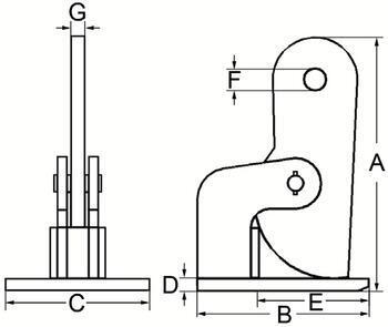 Horizontální svěrka CHHK 5 t, 0-60 mm, výkyvná hlava - 2