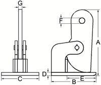 Horizontální svěrka CHHK 5 t, 0-60 mm, výkyvná hlava - 2/4
