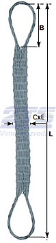 Ploché ocelové lano se zapleteným okem, typ 8701, 3t, 3m - 2