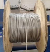 Ocelové lano průměr 5/6 mm, 6x7 FC B 1770 sZ + PVC transparentní - 2/2