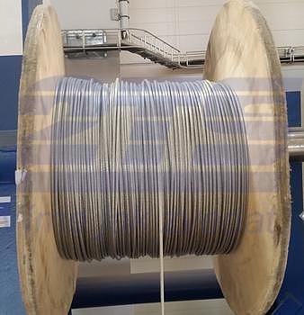 Ocelové lano průměr 5/6 mm, 6x7 FC B 1770 sZ + PVC transparentní - 2