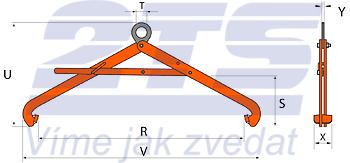 Nosič sudů VSHW 0,6 t, 500-900 mm - 2