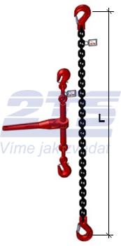 Stahovací řetězová sestava typ č.2 průměr 10 mm, délka 3m, třída 8 GAPA - 2