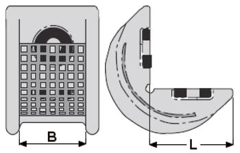 Rohová pevná ochrana SWH pro textilní úvazky 100mm standard, bez magnetů - 2