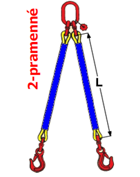 2-hák textilní RS, nosnost RS 3t, délka 3,5m - 2