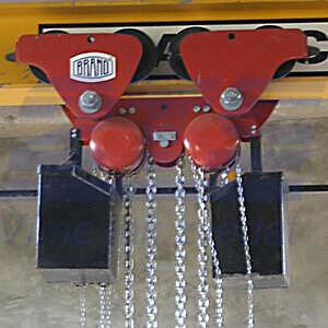 Řetězový kladkostroj pojízdný Z220-B, nosnost 1 t, délka zdvihu 3 m - 2