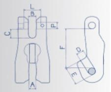 Zkracovací hák s vidlicí VK průměr 7/8 mm, třída 8 - BEZ POJISTKY - 2