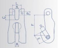 Zkracovací hák s vidlicí VK průměr 7/8 mm, třída 8 - BEZ POJISTKY - 2/2