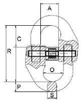 Spojovací člen VG průměr 16 mm, třída 10 - 2/2