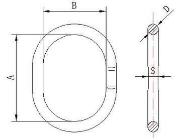 Závěsné oko lanové M16, nosnost 2,1 t GAPA285 - 2