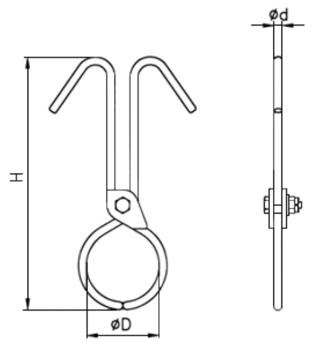 Svěrací kleště na kulatinu SKKR 50kg - 2