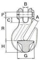 Zkracovací hák s vidlicí ZHVE průměr 8 mm GAPA009, třída 10 - 2/2