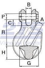 Zkracovací hák s vidlicí ZHVE průměr 8 mm GAPA009, třída 10 - 2