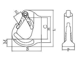 Navařovací hák SAH 1 000 kg, GAPA019, třída 8 - 2