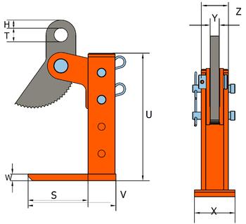 Horizontální svěrka HSKW 9 t, 3-420 mm - 2