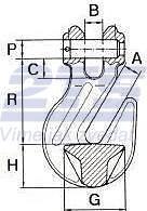 Zkracovací hák s vidlicí ZHVE průměr 6 mm GAPA86, třída 8 - 2