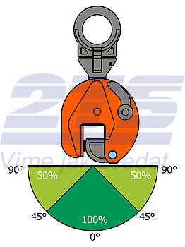 Vertikální svěrka VEUW 4,5t, 0-45mm - 2
